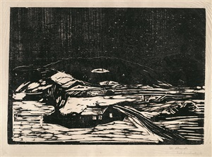 snølandskap (winter landscape) by edvard munch