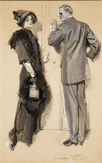 original magazine story illustration, 1911 by howard chandler christy