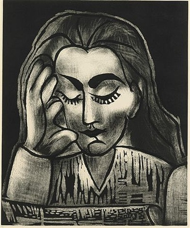 jacqueline lisant by pablo picasso
