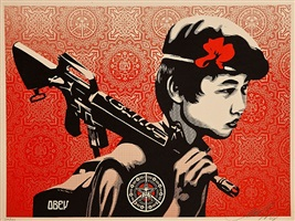 duality of humanity #2 by shepard fairey