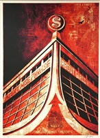 glass houses canvas print by shepard fairey