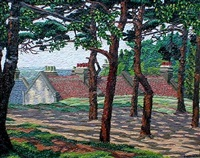 sunlight and shadows, hampstead heath by charles ginner