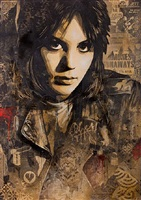 joan jett (canvas original) by shepard fairey