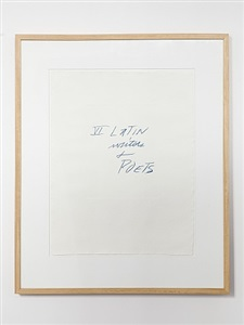 cy twombly six latin writers and poets by cy twombly