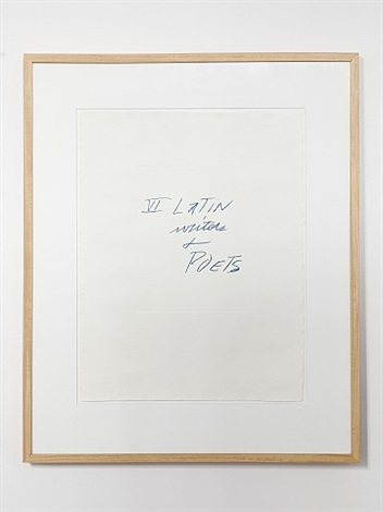 vi latin writers and poets: cover by cy twombly