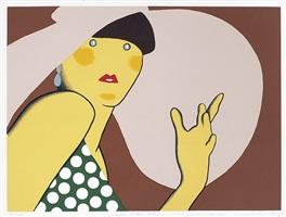 lady with hat by kiki kogelnik