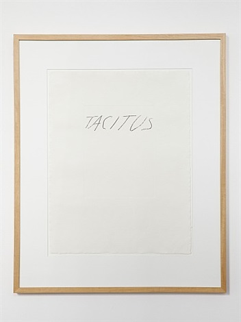 vi latin writers and poets: tacitus by cy twombly