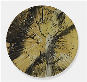 beautiful magnificent stand and deliver painting (with diamonds) by damien hirst