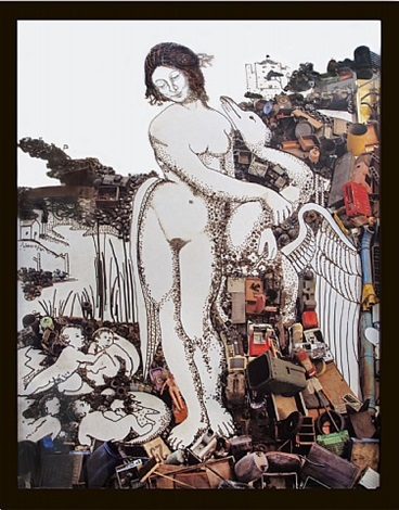 leda and the swan after leonardo da vinci by vik muniz