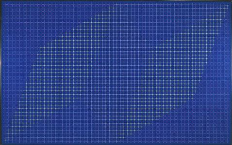 occurrence blue by julian stanczak