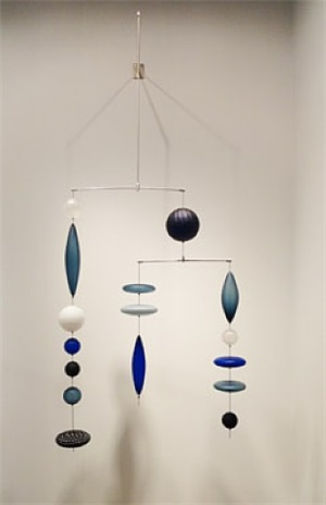 suspended mobility series 6 (blue) by baldwin & guggisberg