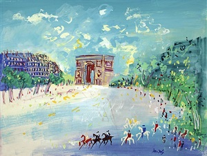 paris, l'arc de triomphe by jean dufy