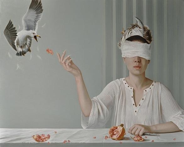 surprised bird by zhang yu
