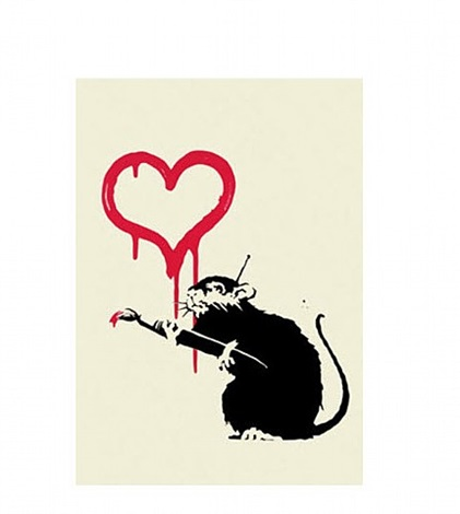 love rat by banksy