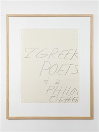 iv greek poets and a philosopher by cy twombly