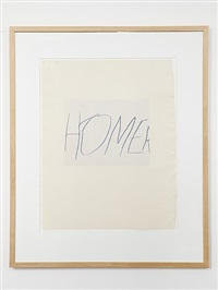 five greek poets and a philosopher - homer by cy twombly
