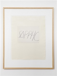 five greek poets and a philosopher - sappho by cy twombly