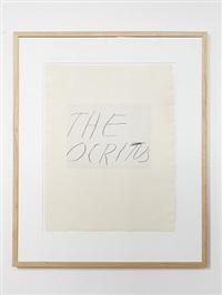 the ocritus by cy twombly