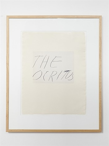 five greek poets and a philosopher - the ocritus by cy twombly