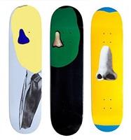 skateboards (set of 3) by john baldessari