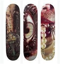 skateboards (set of 3) by marilyn minter