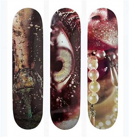 skateboards (set of 3) by marilyn minter