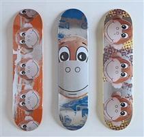 skateboards (set of 3) by jeff koons