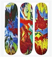 skateboards (set of 3) by damien hirst