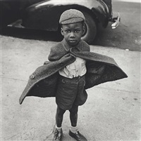 butterfly boy, new york city by jerome liebling