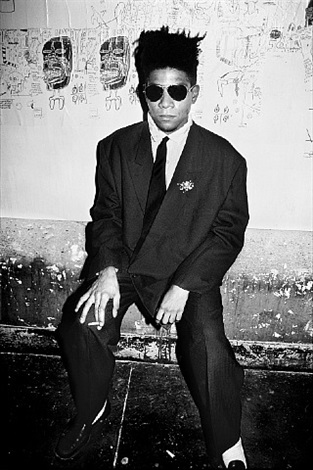 jean michel basquiat, art in area party, new york by roxanne lowit