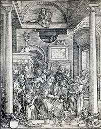 glorification of the virgin (the life of the virgin) by albrecht dürer
