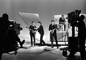 beatles ed sullivan show with cameras by harry benson