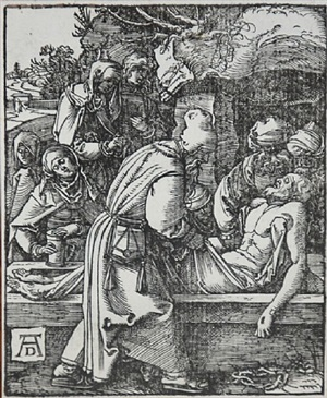the entombment (the small passion) by albrecht dürer