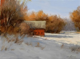 evening light in winter by carolyn walton