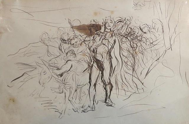 scène de rome antique by edme alexis alfred dehodencq