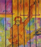 orangutang im käfig by philipp bauknecht