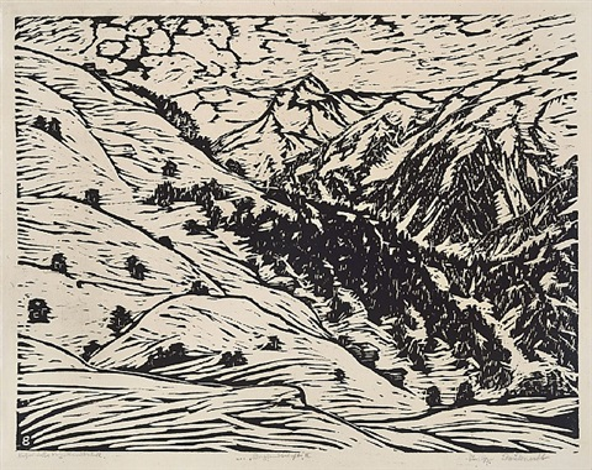 berglandschaft ii by philipp bauknecht