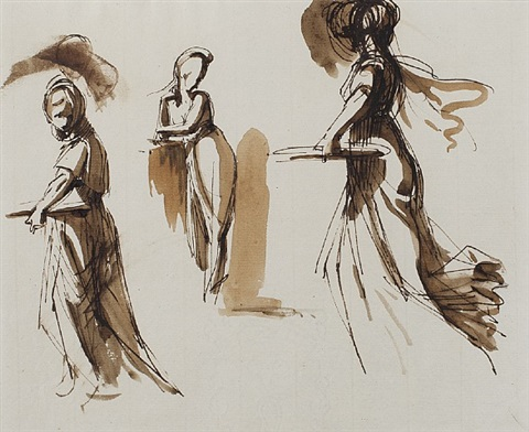 female figures by william lock