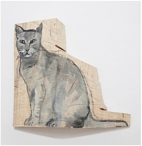 grey cat by stephan balkenhol