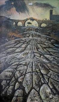 una via romana antica con temporale distante by eugene berman