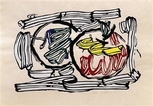 two apples. by roy lichtenstein