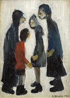 family group by laurence stephen lowry