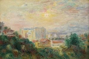 vue de montmartre, paris by pierre-auguste renoir