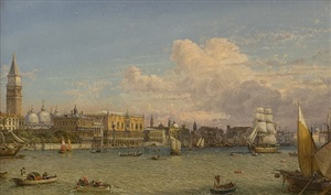 view of venice by friedrich nerly
