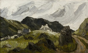 llanberis pass by sir kyffin williams
