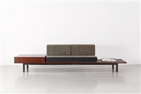 banquette avec rangement / bench with storage by charlotte perriand