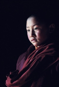 young monk in yutok (yutok monastery, amdo) by frédéric lemalet