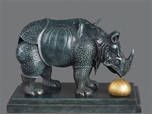 rhinoceros dressed in lace by salvador dalí