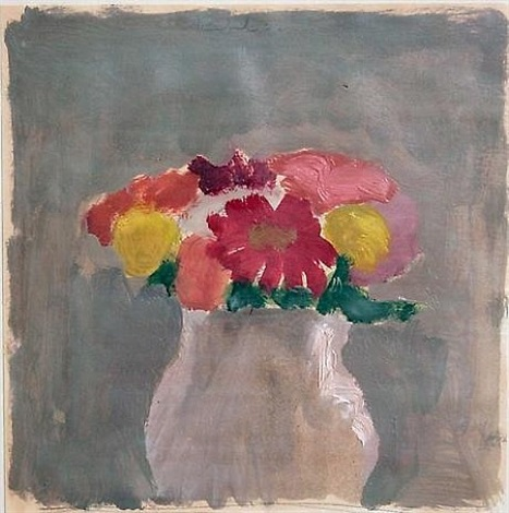 flowers in a vase by robert kulicke