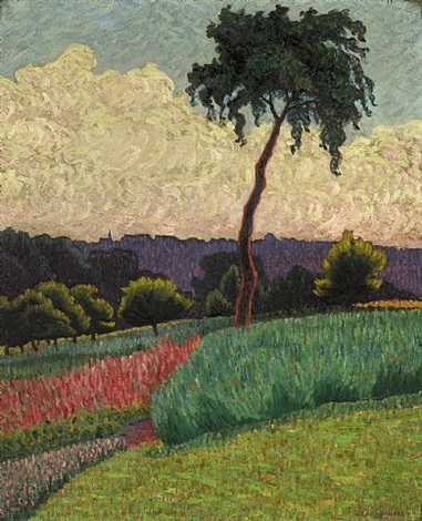 paysage en provence by léo gausson